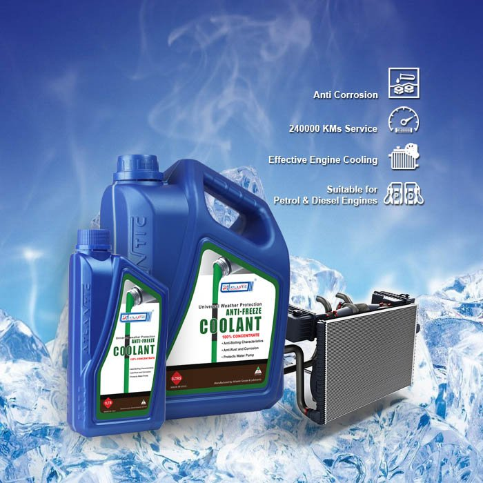Atlantic Anti Freeze Coolant Concentrated 5 Litres