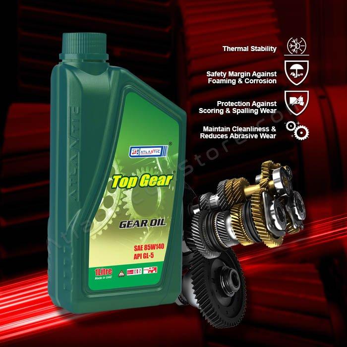 Top Gear Oil 85W 90 GL5 1 Litre